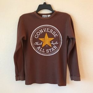 Converse Womens Thermal Top Waffle Knit Brown 🍁